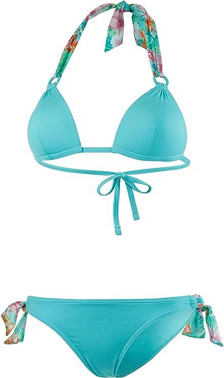 0c5abd07b7d0 Esprit Mujer Triángulo Bikini, azul turquesa: Amazon.es: Deportes y ...