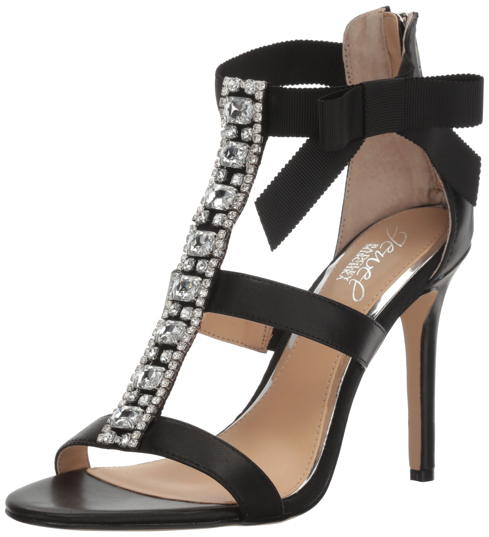 Jewel Badgley Mischka Women's Henderson Dress Sandal, Black, 10 M US