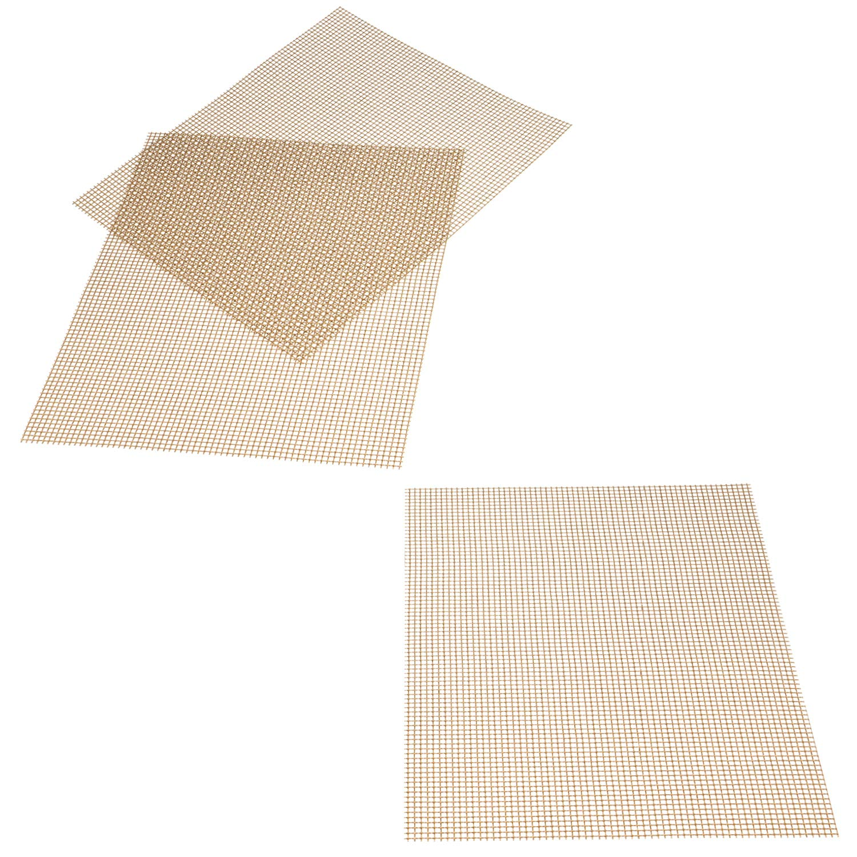 Details about Barbecue Mat Rectangular Set 3 Fibreglass Fabric Non-Stick  Heat Resist Fibre