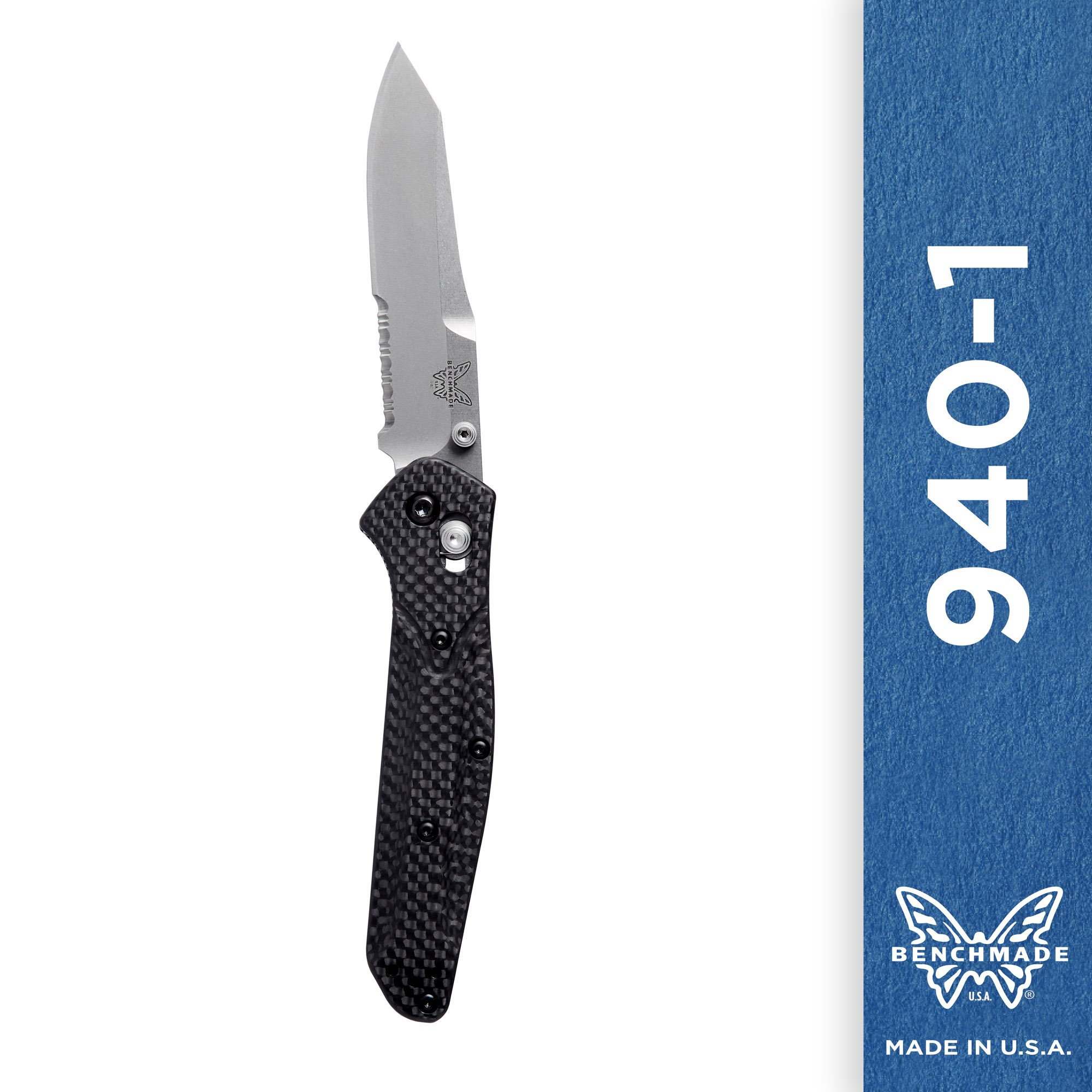 Benchmade - 940-1, Serrated Reverse Tanto, Carbon Fiber Handle by Benchmade