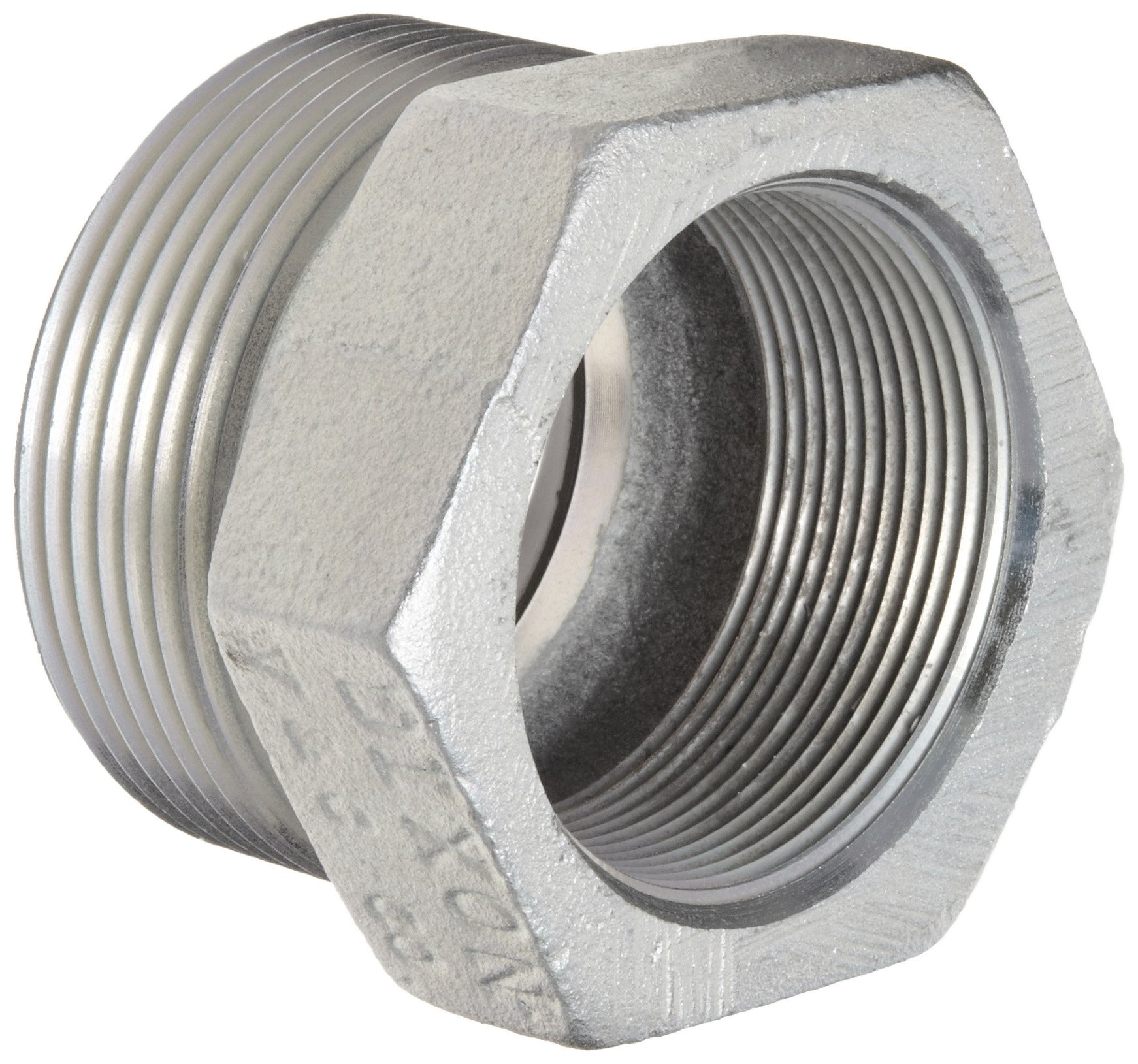 Dixon Boss GB28 Plated Iron Hose Fitting, Spud for GJ Boss Ground Joint Seal, 2'' NPT Female