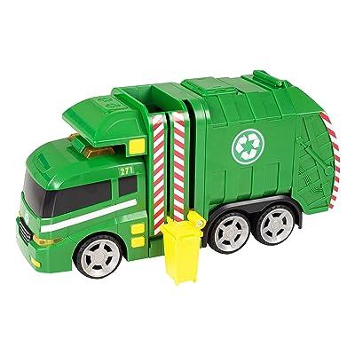 Teamsterz 1416391 Camión de Basura con Luz y Sonidos, 42 cm: Juguetes y juegos