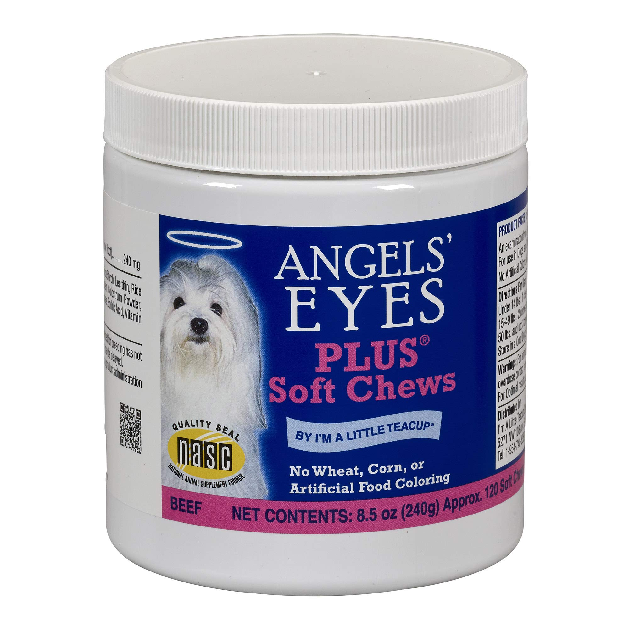 Angel's Eyes AENSC120PLBF 120 Counts Plus Soft Chews for Dogs by Angel's Eyes