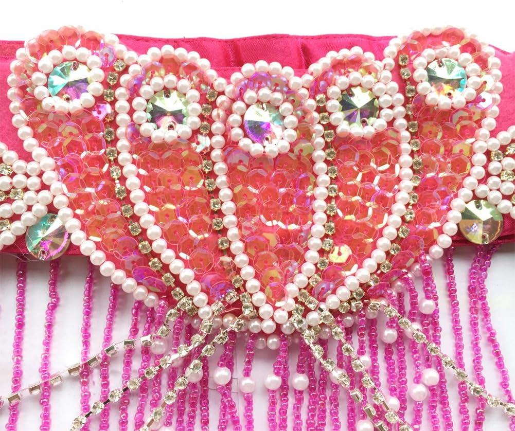 ROYAL SMEELA Danza del Ventre Abbigliamento Reggiseno Cintura Danza del Ventre Costume Donna Reggiseno Cintura Set Danza Professionali Carnevale Flamenco Vestito da Ballo Fantasia