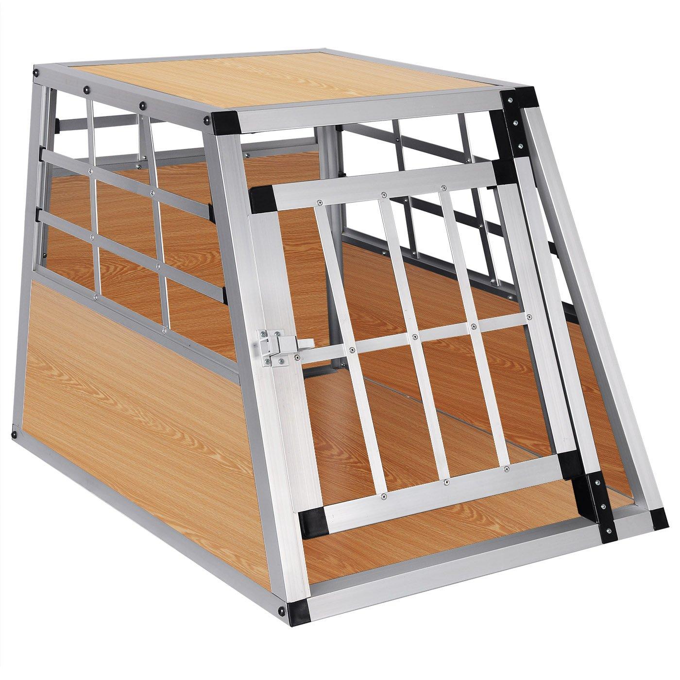 EUGAD Hundebox Transportbox Hundetransportbox Aluminium 1 Tü rig Reisebox Gitterbox Box Farbwahl EHT468