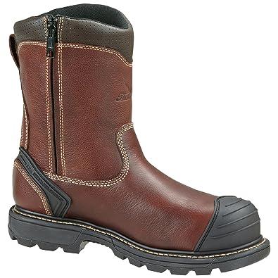 Men's Thorogood 8 inch Side - zip Composite Toe Wellington Work Boots  Brown, BROWN,