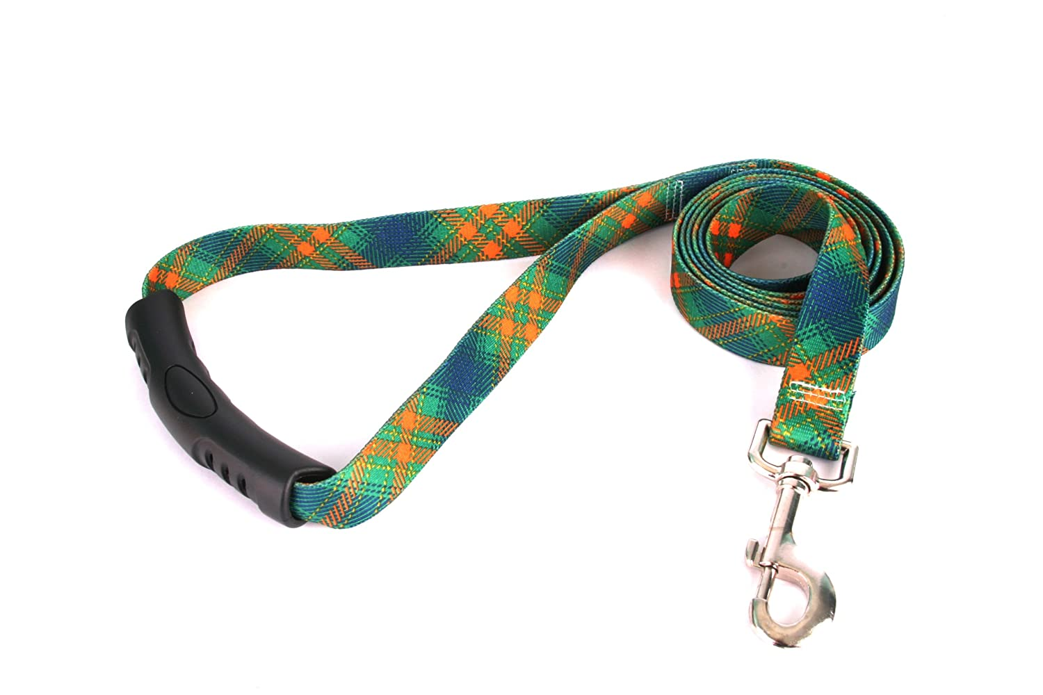 M Yellow Dog Design EZ-Grip Lead, 3 4-Inch by 60-Inch, Green Kilt