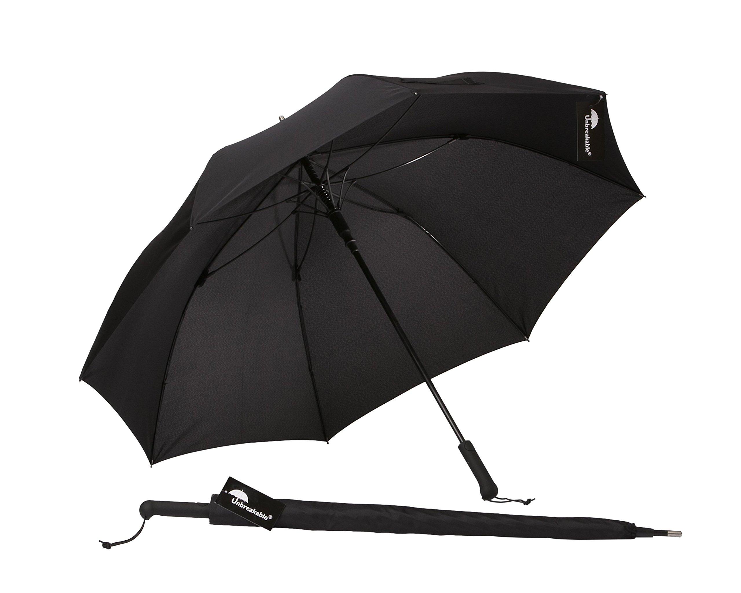 Unbreakable Walking-Stick Umbrella Standard Model U-111 with Straight Handle