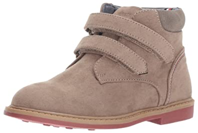 f1749638c TOMMY HILFIGER Kids Boys' Michael Double-t Chukka, Taupe, 6 M Toddler
