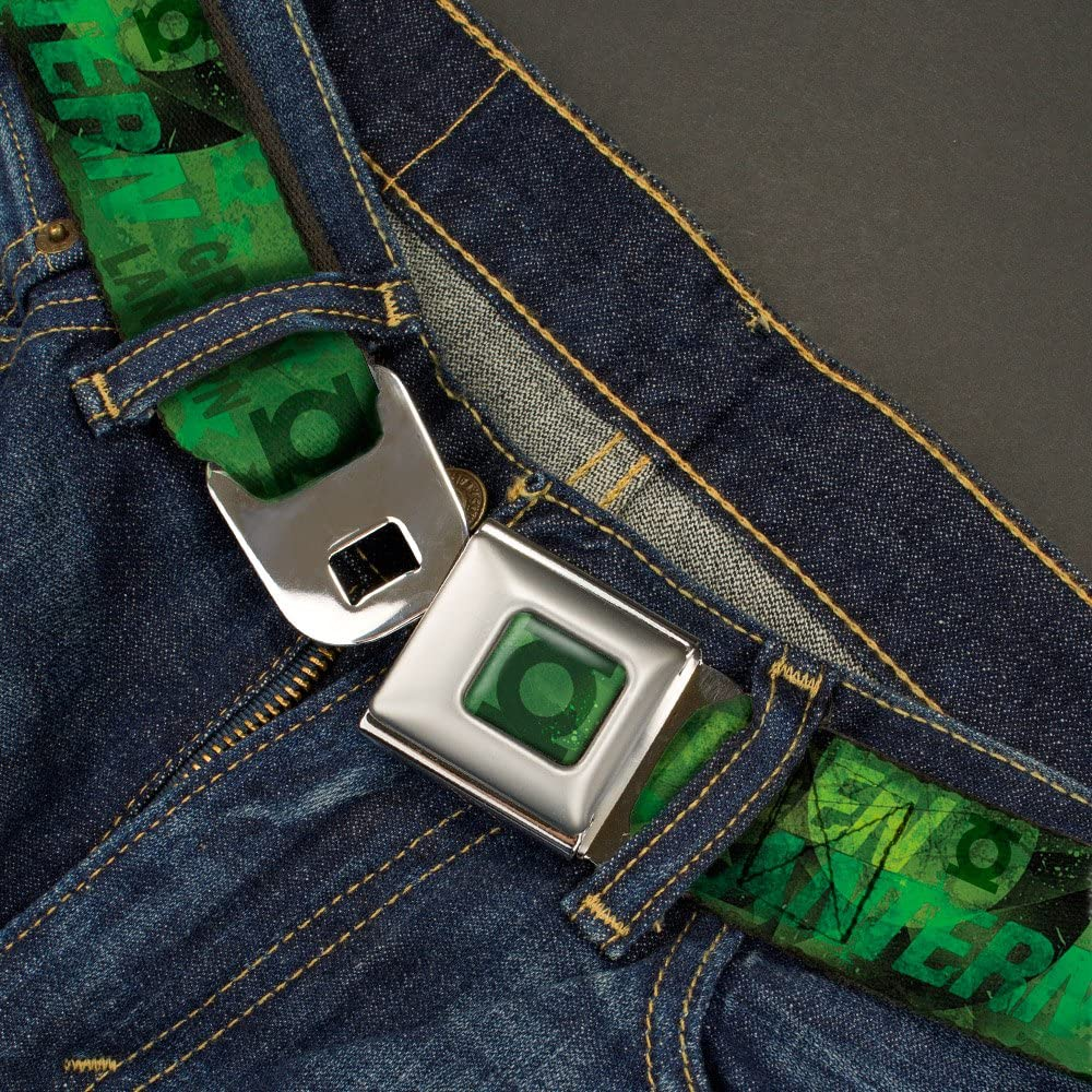 Buckle-Down Mens Seatbelt Belt Green Lantern Wgl012