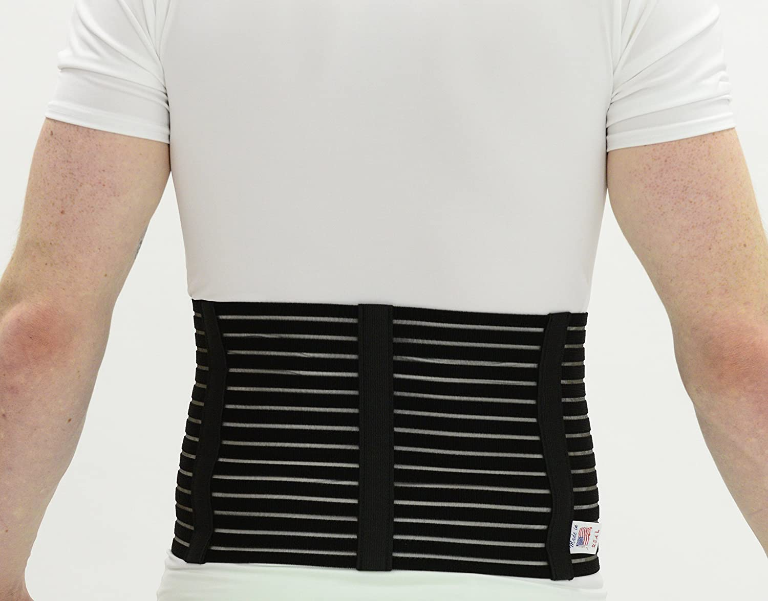 Amazon.com: ITA-MED Mens Breathable Abdominal/Back Support Binder AB-208: White Small: Health & Personal Care