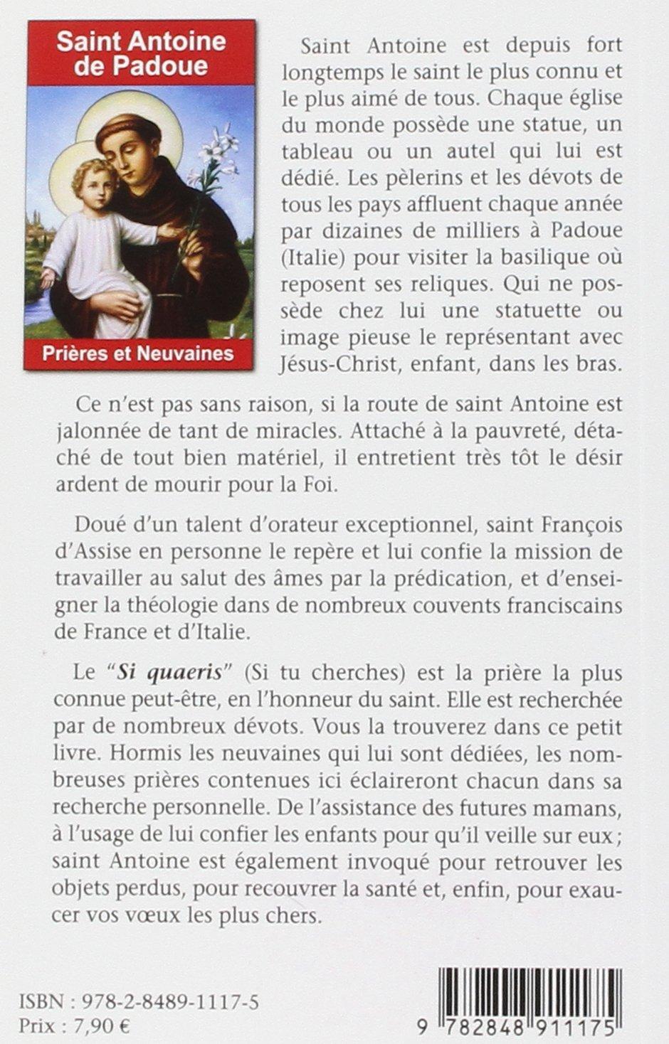Bien-aimé Amazon.fr - Saint Antoine de Padoue : Prières et neuvaines  BE52