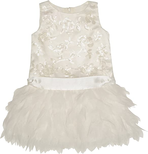 Biscotti Girls Princess Party Dress with Netting Skirt and Charmeuse Bow