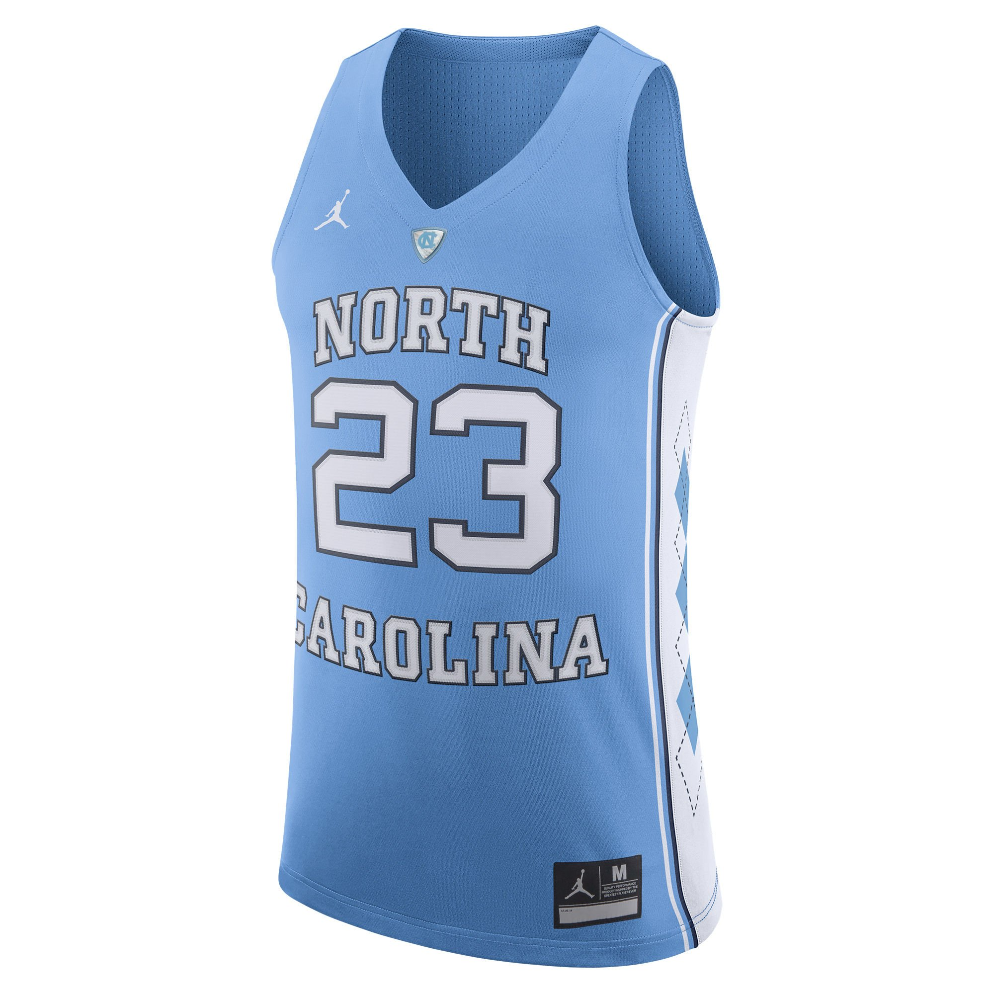 Jordan Brand Michael Jordan North Carolina Tar Heels Light Blue Authentic Basketball Jersey - Men's Large