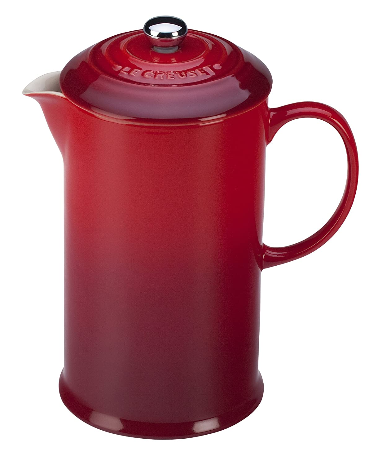 Le Creuset of America PG8200-0567 Petite French Press, 12 oz, Cherry