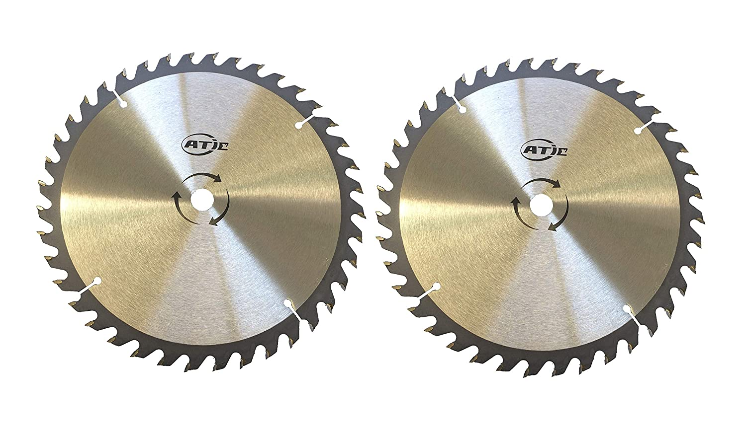 "2 PACK 9"" 40 Tooth Carbide Tip General Purpose Wood Cutting Circular Saw Blade with 5/8"" Arbor"