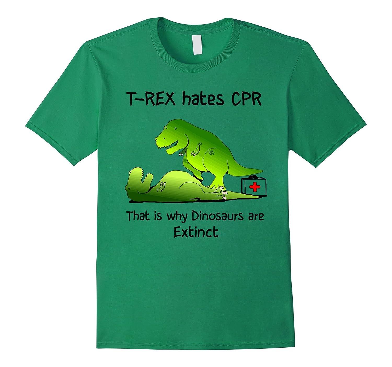 Assez Sad T Rex Shirt T Rex hates CPR T Shirt - Goatstee GE04