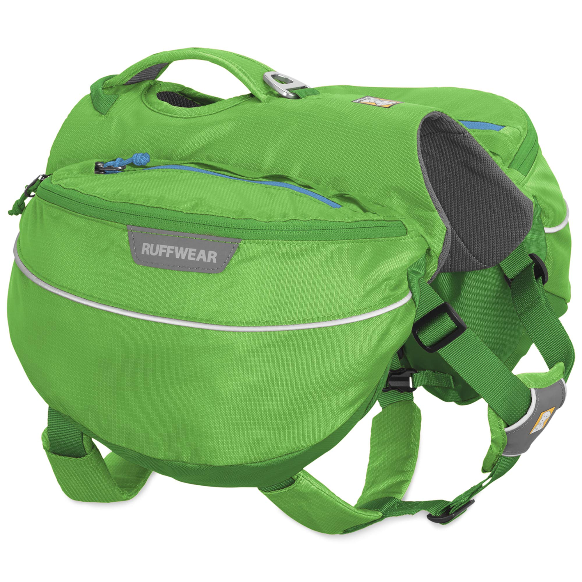 RUFFWEAR Hiking Pack for Dogs, Medium Sized Breeds, Adjustable Fit, Size: Medium, Meadow Green, Approach Pack, 50102-345M by RUFFWEAR