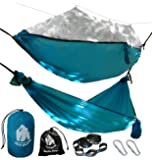 CHILL GORILLA MOSQUITO HAMMOCK WITH STRAPS - Perfect for Backpacking Camping Travel Beach Yard. Portable Parachute Hammock with Bug Net. Easy to Setup. Supports 661 lbs