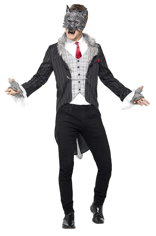 Smiffys 44395L - Herren Großer Böser Wolf Kostüm, Größe: L, grau