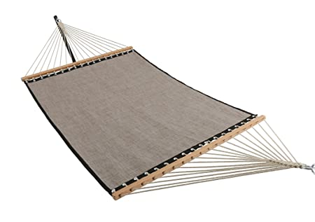 ELC 11 Feet Quick Dry Hammock with Spreader Bars, Double Hammocks with Chain, Hanging Kits and Hooks, Fit for Outdoor Patio Yard Poolside, Mocha