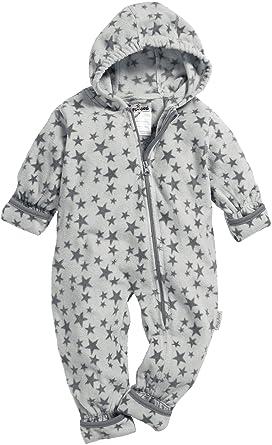 93104bf9a5 Playshoes Unisex Baby Fleece-Overall Sterne Schneeanzug, per Pack Grau (grau  33)