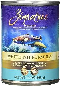 Zignature Whitefish Canned Dog Food Formula 12/13oz