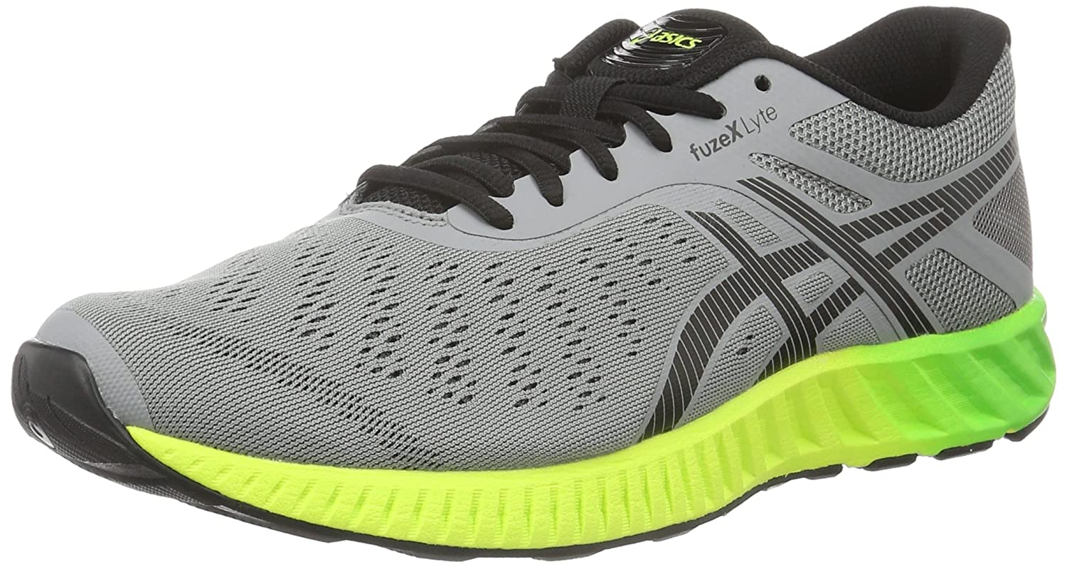 Asics Fuzex Lyte, Zapatillas de Running para Hombre 44 EU|Gris (Aluminum/Black/Safety Yellow)