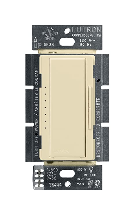 Lutron Maestro C.L Dimmer Switch for Dimmable LED, Halogen and Incandescent Bulbs, Single-