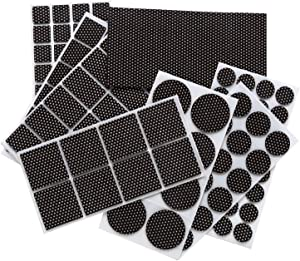Premium Adhesive Furniture Pads Set - Large Pack Non Slip Felt Furniture Pads 129 Piece Furniture Grippers - Silicone Points Surface Firmly Fix in Place Furniture - Best Floor Protectors