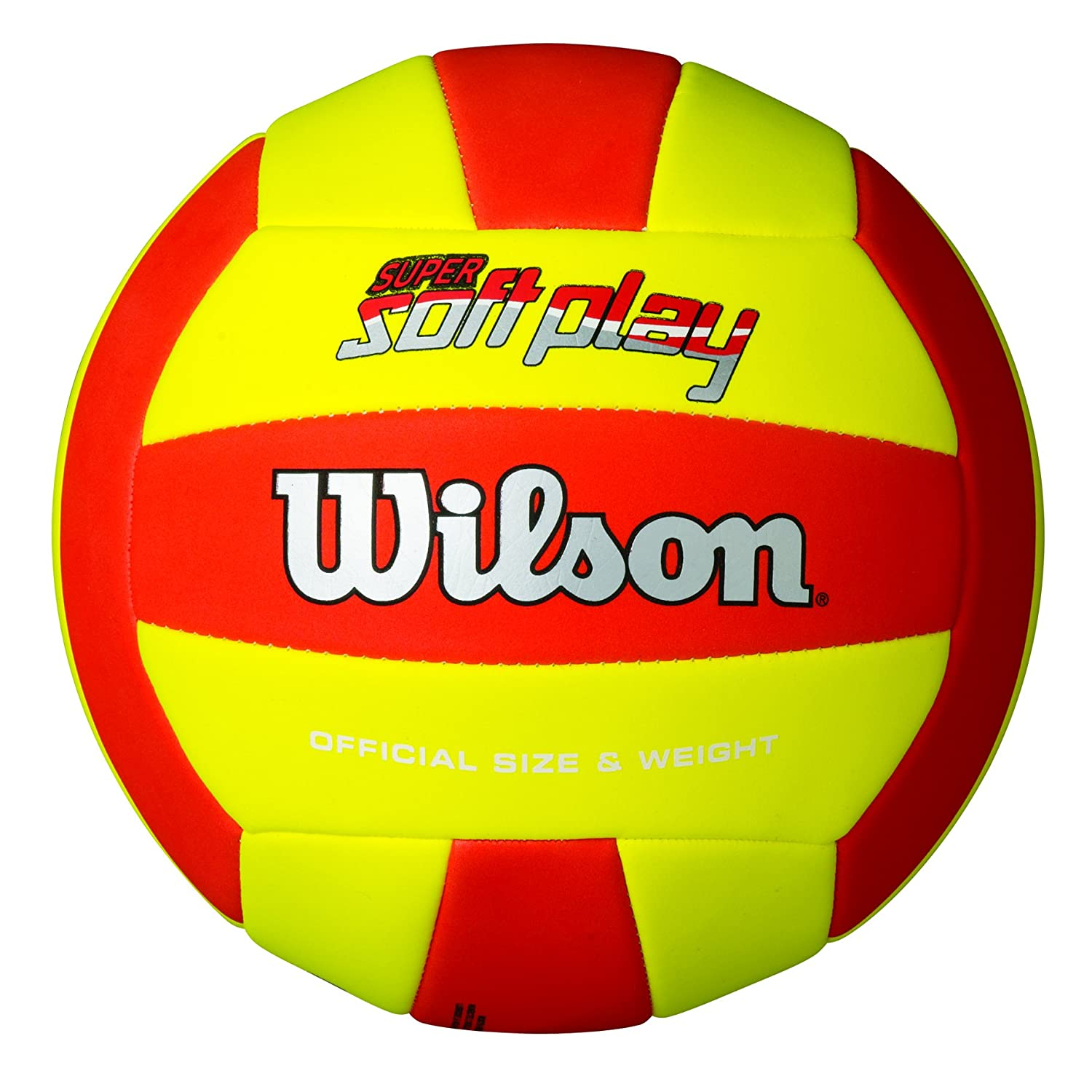 Wilson Super Soft Play Pelota, Rojo/Amarillo, Talla Única: Amazon ...