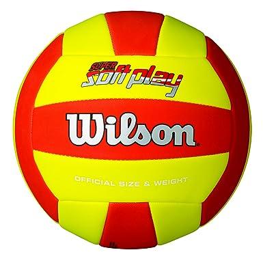 Wilson Super Soft Play Pelota, Rojo/Amarillo, Talla Única
