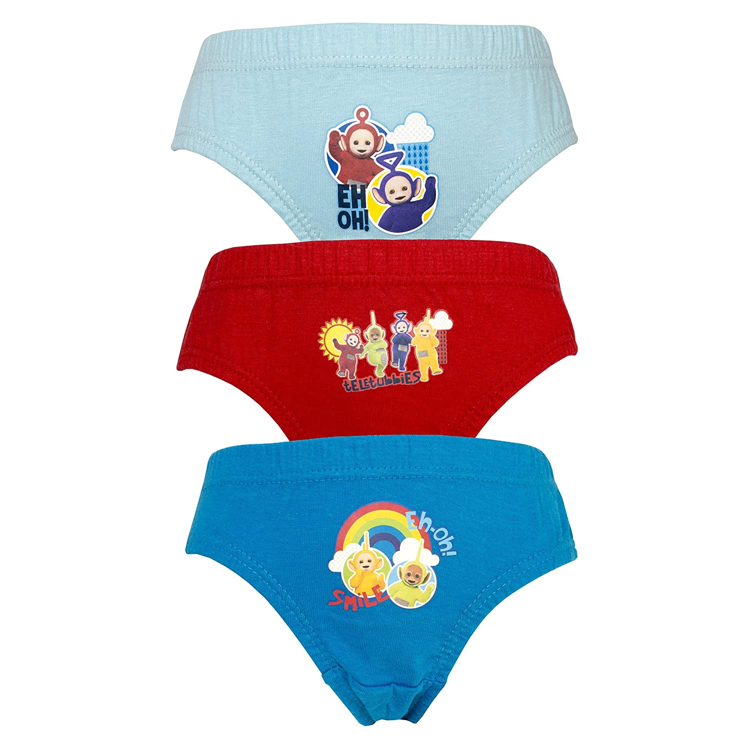 Age 18 Months to 4 Years Cartoon Character Products Teletubbies 3 Pack Boys Pants Briefs Knickers