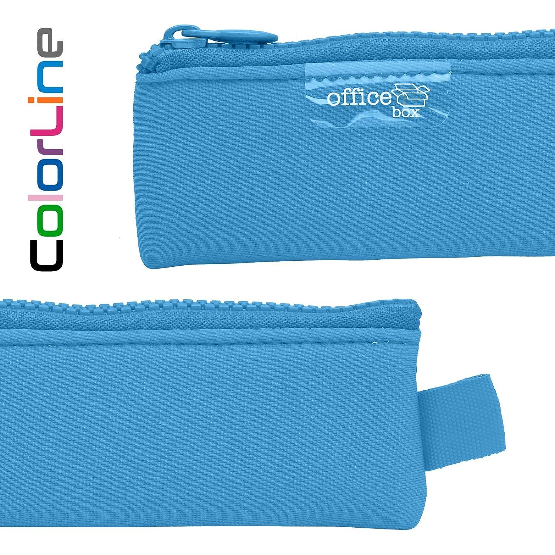 Colorline 59480 Colore Blu Chiaro Misure 20 x 5 cm Articoli da Bagno e Accessori Astuccio Portapenne // Portatutto Mini di Neoprene Materiale Scolastico Custodia Multi Purpose da Viaggio