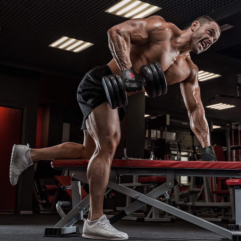 RDX Guantes Gimnasio Fitness Culturismo Musculacion Gym Levantamiento de Pesas Entrenamiento Halterofilia Deportivos Powerlifting Antideslizante ...