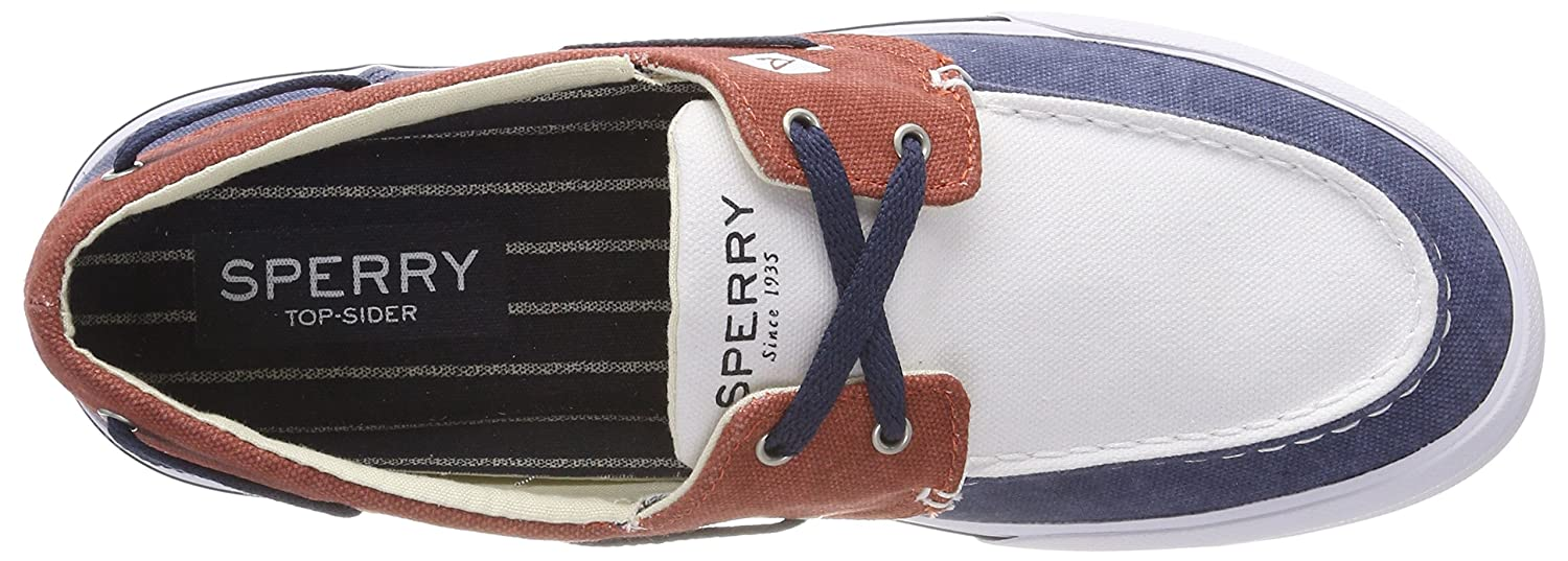 Sperry Top-Sider Bahama Ii Boat Washed Navy//Red//Wht Men/'s Boat