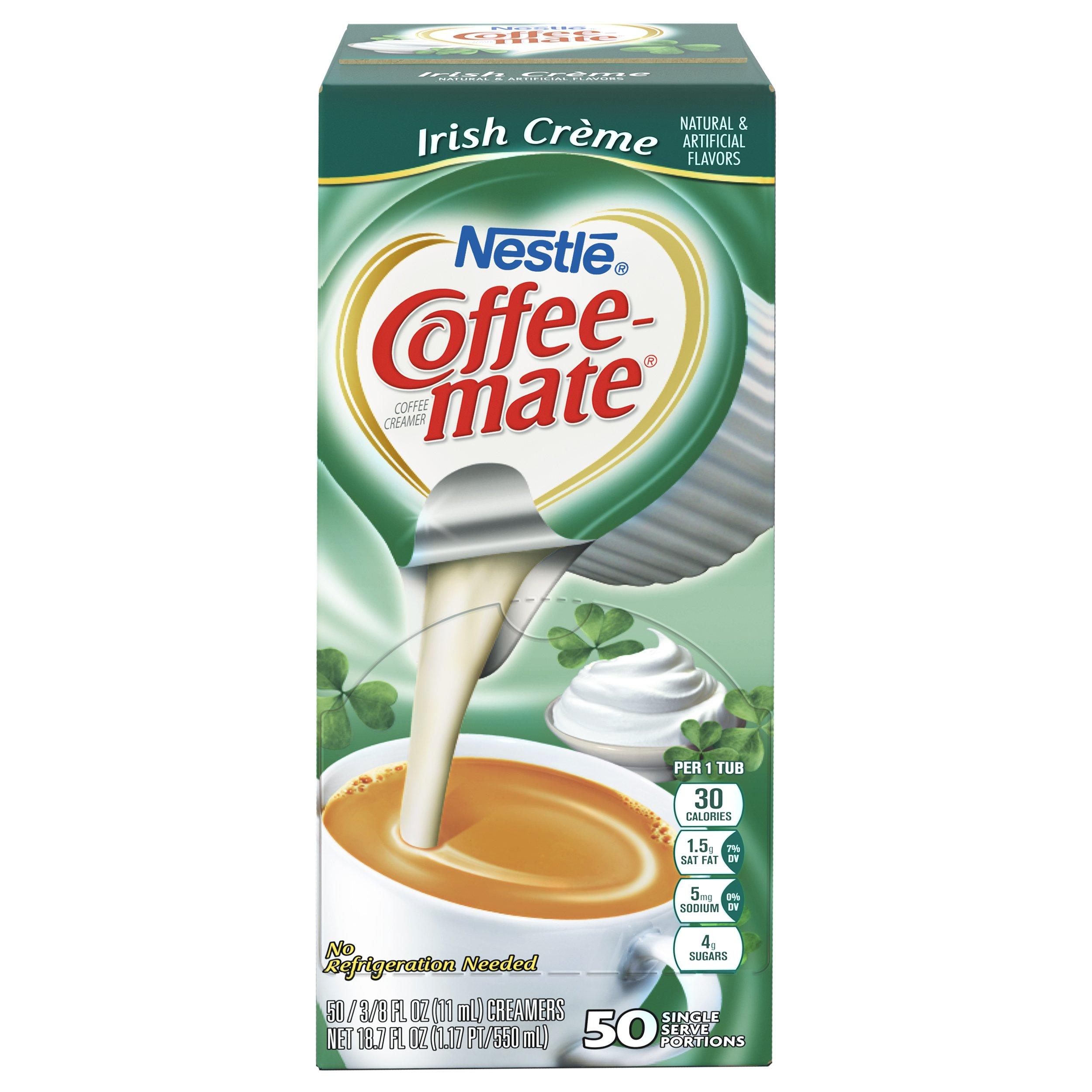 NESTLE COFFEE-MATE Coffee Creamer, Irish Creme, liquid creamer singles, 50 Count (Pack of 4) by Nestle Coffee Mate (Image #2)
