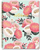 """Studio Oh! Hardcover Spiral Notebook, 8.5"""" x 11"""", Mint Bold Blossoms"""
