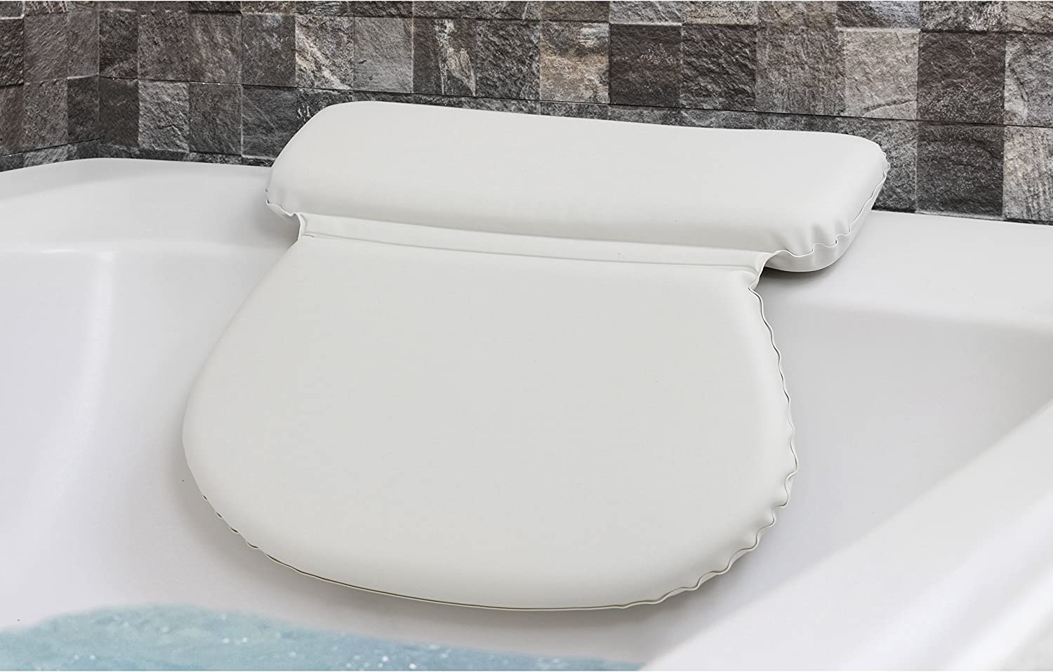 Epica 2X-Thick Luxury Spa Bath Pillow, SuperGrip Suction Cups: Home & Kitchen