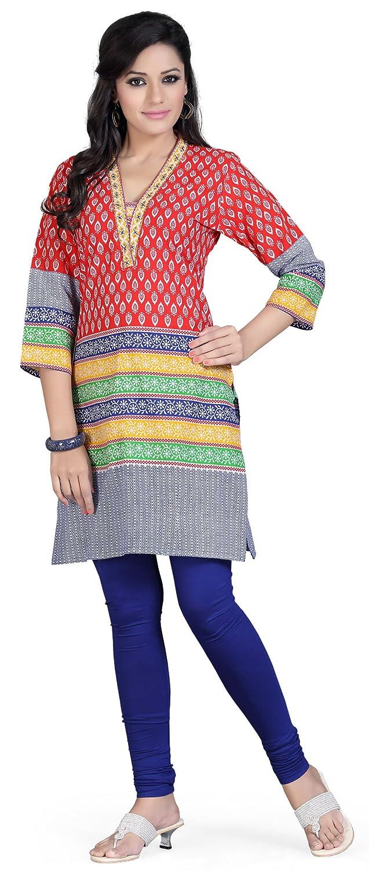Indian Tunic Top Long Kurti Womens Cotton Blouse India Clothing