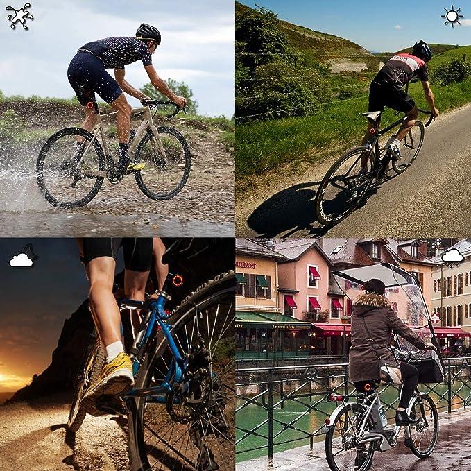 Details about  /Mountain Bike Tail Light Brake Flashing Lights Water Resistant Easy Mount