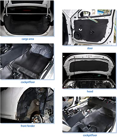 Sourcing Map Dämmmatte 394mil 10mm 6 46sqft Auto Schallschutz Akustik Matte Auto