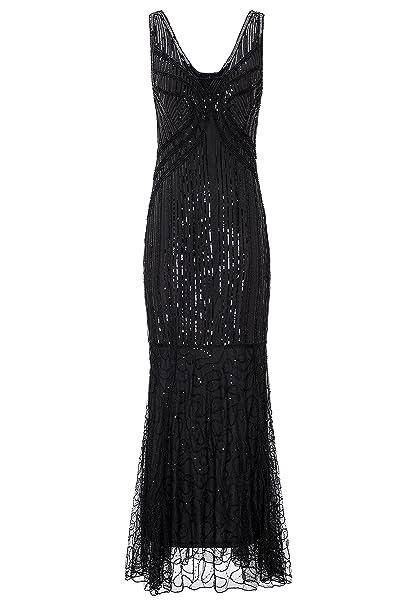 Amazon.com: Metme vestido de noche de sirena con lentejuelas ...