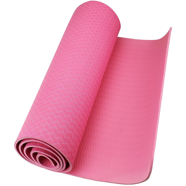 AMOS Esterilla de Yoga de Espuma TPE Estera Antideslizante ...