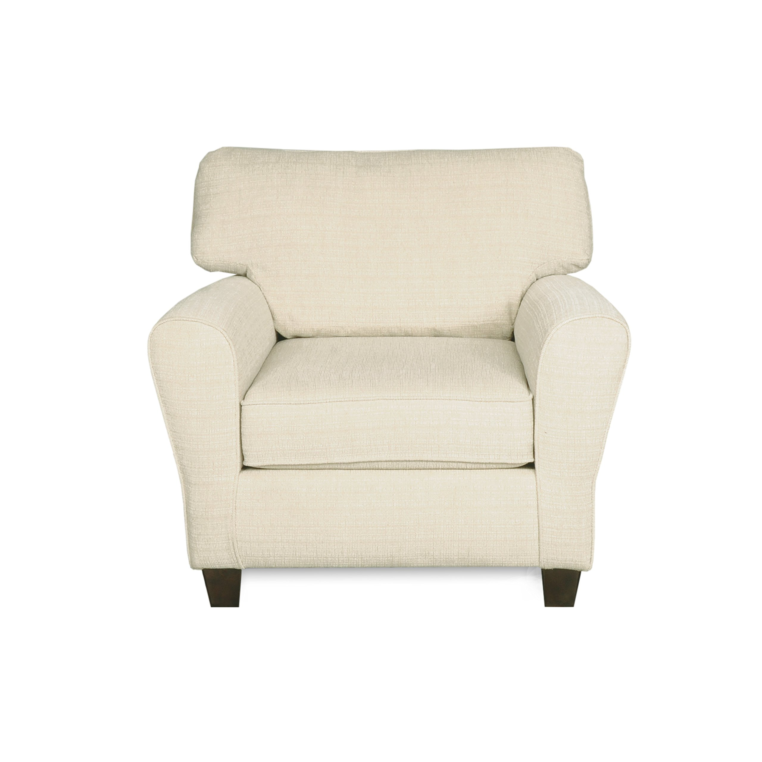 """Dynasty Cream Fabric Armchair with Tool-Free Assembly & 1-Year Warranty 