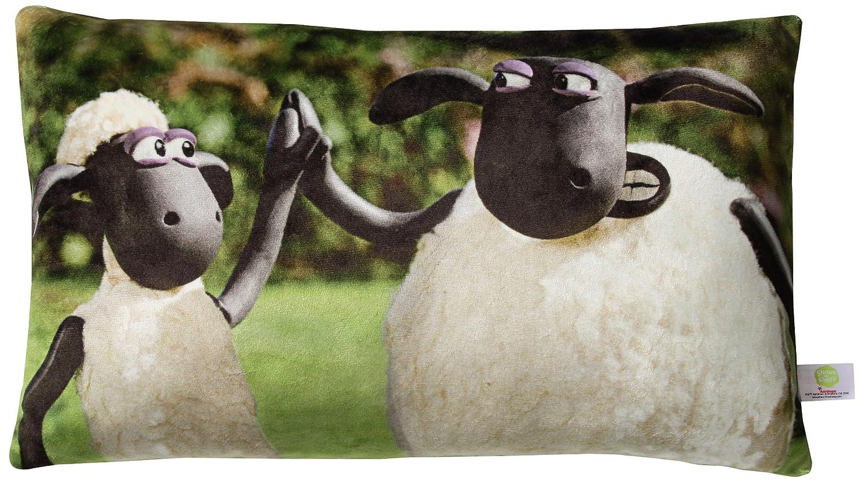 NICI 37209–Coussin Imprimé Shaun le mouton et Shirley rectangulaire, 43x 25cm