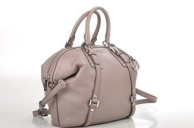 16993fe94015 Michael Kors Bedford Belted Medium Satchel Leather Taupe Bag  Handbags   Amazon.com