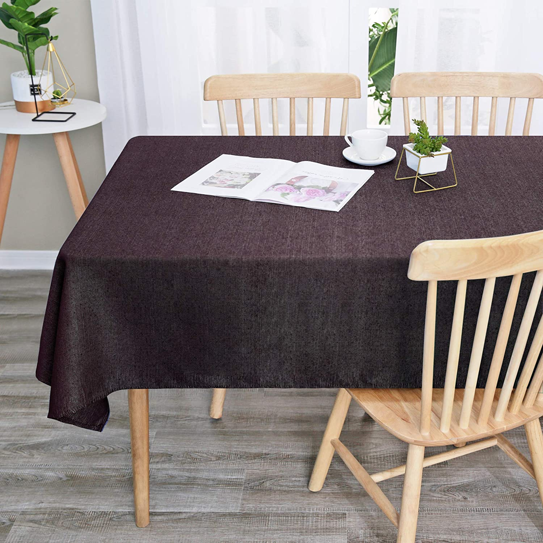 Manteles de Mesa Antimanchas Rectangular de Tela de Cocina Comedor 137 x 274 cm Rojo UMI Essentials