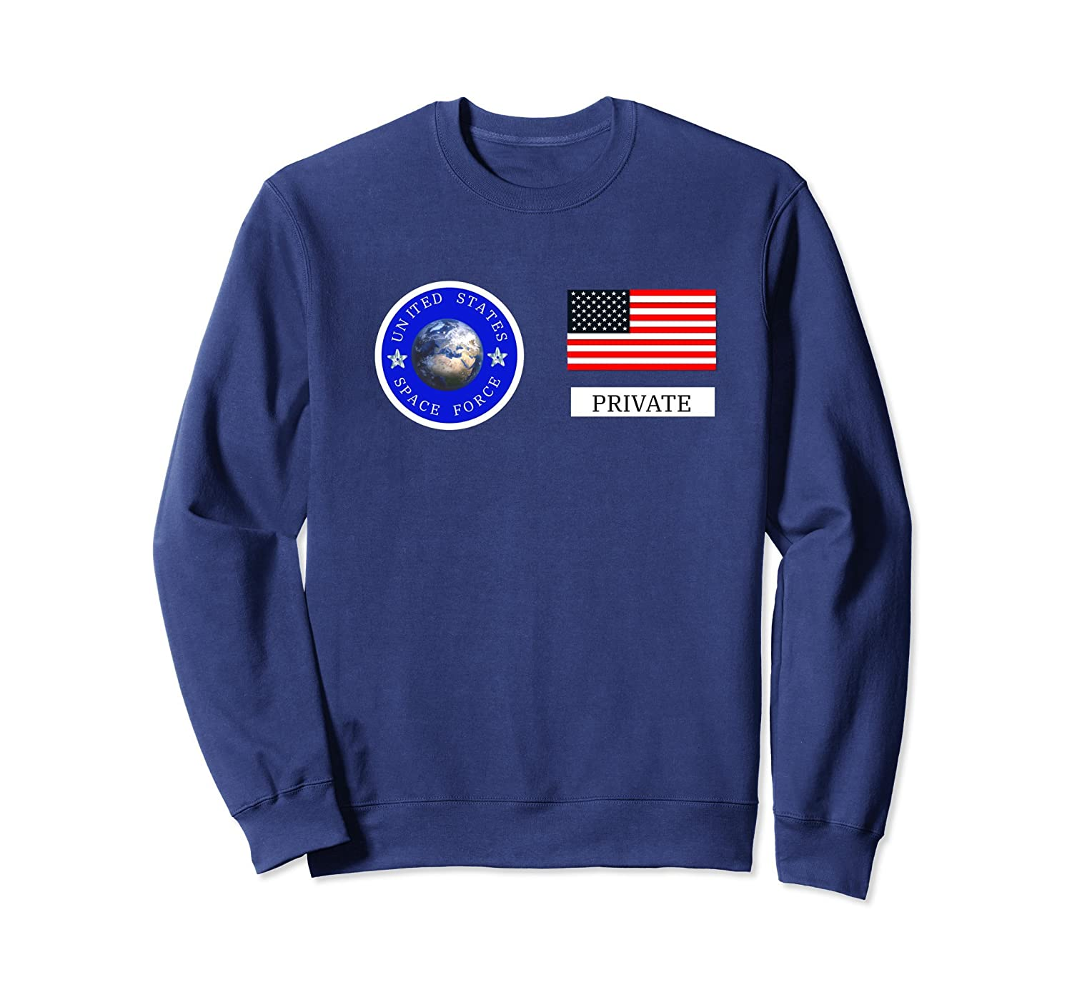 Space Force Halloween Costume Sweatshirt | Private Uniform-mt