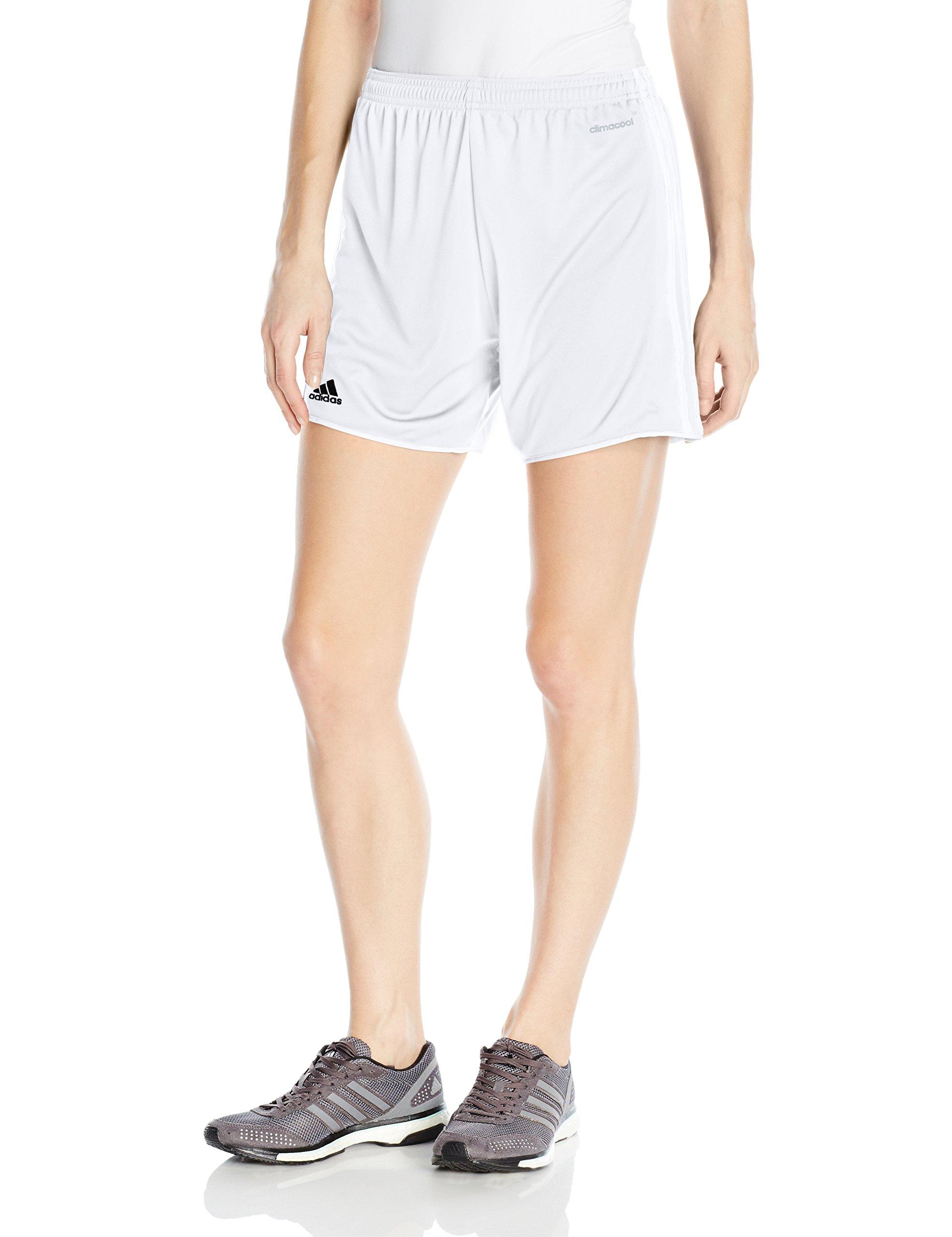 adidas Women's Soccer Tastigo 17 Shorts, White/White, Small